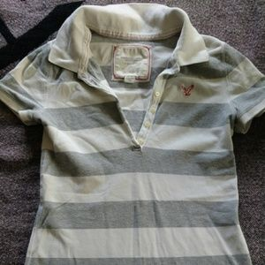 American Eagle short sleeved button down polo
